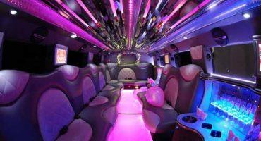 Cadillac Escalade limo interior new orleans
